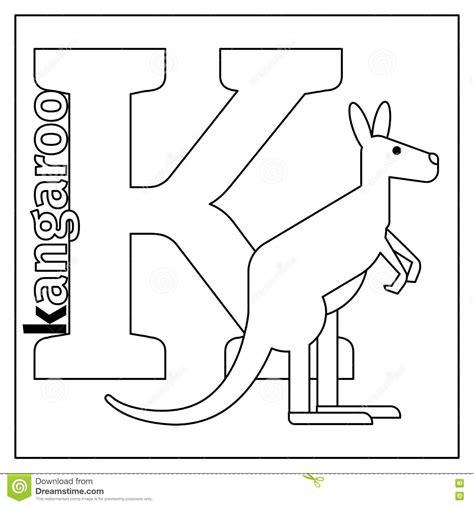 k kangaroo coloring page k is for kangaroo coloring page letter k worksheet