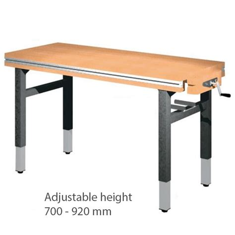 workbench 1500 215 650 215 700 to 920 height adjustable on 4