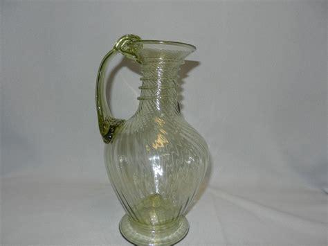 blown glass ls vintage blown glass pitcher from