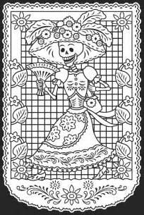dia de los muertos coloring pages welcome to dover publications