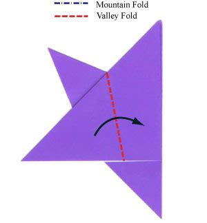 What Is A Valley Fold In Origami - how to make a traditional five pointed origami paper