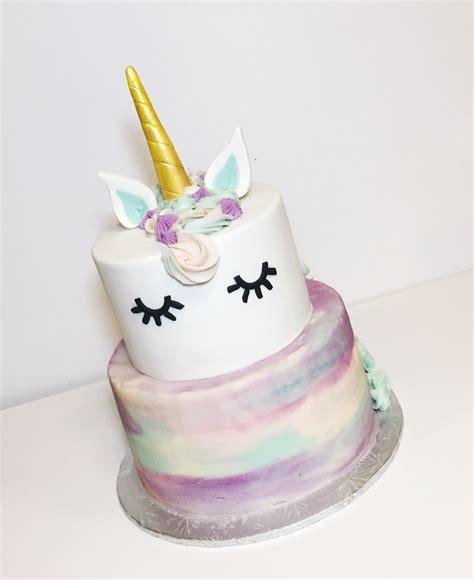 Sweet Tweets Bakeshop   Unicorn Watercolor Cake