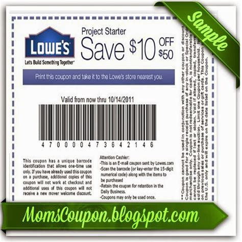 lowes 10 printable coupons and lowes on