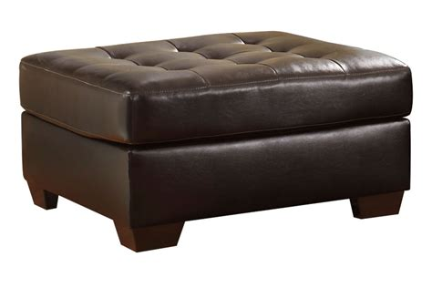 oversized leather ottoman alliston bonded leather oversized ottoman at gardner white