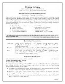information technology resume sle