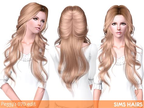 hair color to download for sims 3 peggy s 070 hairstyle romantic edit by sims hairs