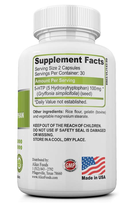 5 Htp Also Search For 5 Htp 50 Mg Of Hydroxytryptophan 60 Day Supply Foods