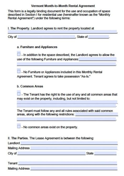 Lease Termination Letter To Landlord Month To Month Free Vermont Month To Month Lease Agreement Pdf Word Doc