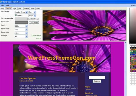 wp theme generator software wordpress theme generator software download free