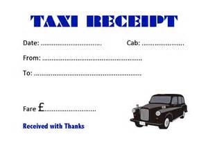 Nyc Taxi Receipt Template Taxi Receipt