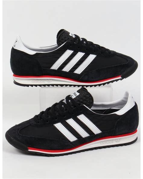 Adidas White Black adidas sl 72 trainers black white originals shoes