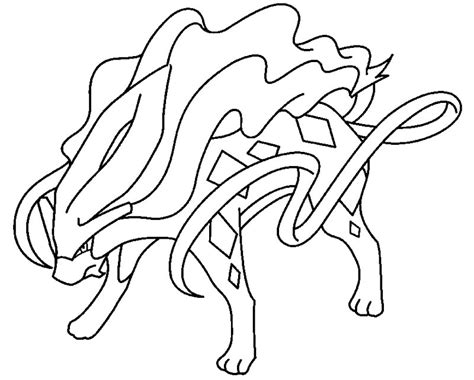 pokemon coloring pages raikou coloriage pokemon suicune