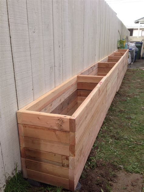 Fence With Planter Box by 2x4 Planter Box Our Backyard Is Narrow So We Want To