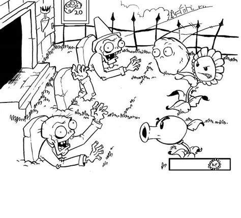 plants vs zombies coloring pages games free coloring pages of a pea shooter