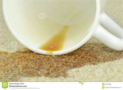 spilled coffee on rug a spilled cup of coffee royalty free stock images image 34205069