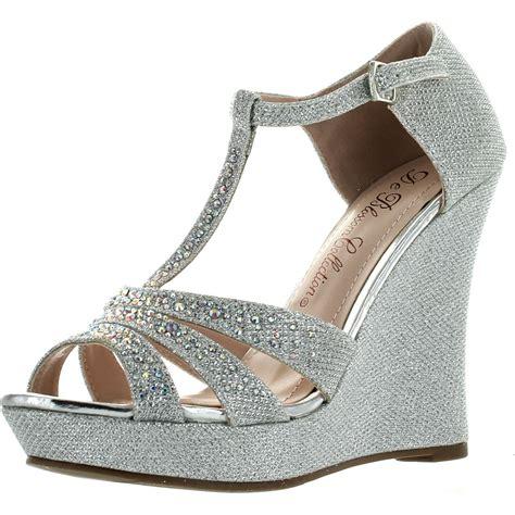 Wedges Sofiya Import 2 deblossom womens dressy glitter rhinestone t platform wedge sandal aalle 2