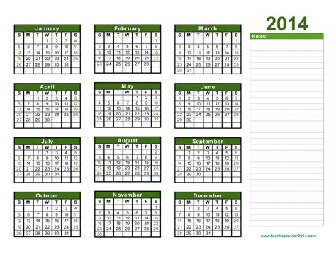 Calendar 2014 Templates by Free Blank Calendar Template 2014 Great Printable Calendars
