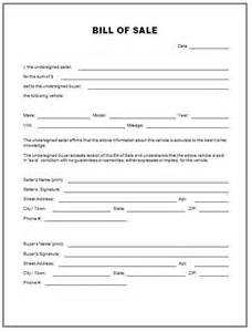 bill of sales template free printable documents