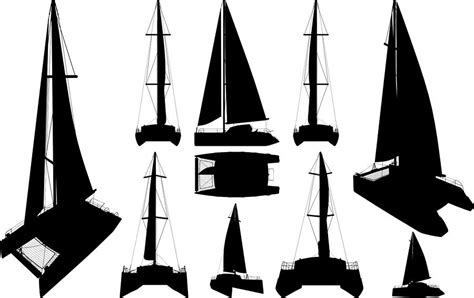 catamaran boat drawing catamaran boat silhouettes drawing by nenad cerovic