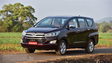 Toyota Innova Price Tag Toyota Innova Crysta Prices In India Overdrive