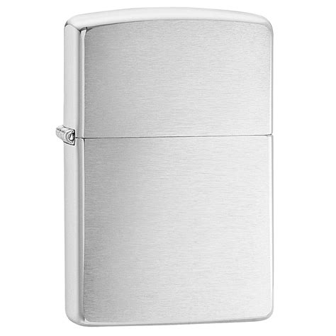 chrome zippo zippo brushed chrome regular lighter fire starters