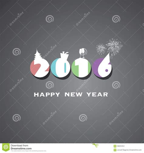 new year 2016 backdrop design simple colorful new year card cover or background design