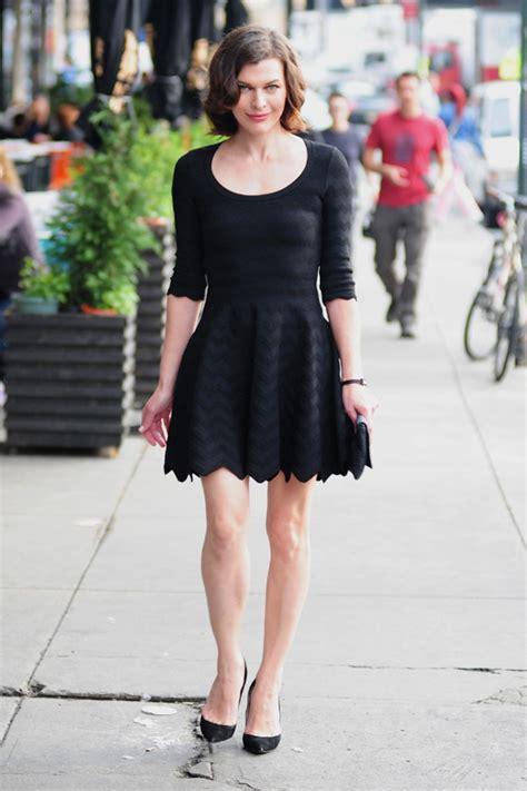 Milla Jovovich Wardrobe by Milla Jovovich S Black Dress Milla Jovovich