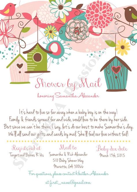 Distance Baby Shower Invitations by Shower By Mail Invitation Distance By