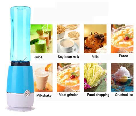 Blender Jus Portable 500 Ml Membuat Jus Buah Favorit Lebih Praktis blender buah dobule cup portable 2 in 1 500ml blue