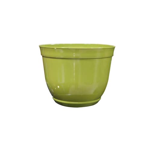 home depot plastic planters alpine 15 in large light green bowl plastic planter