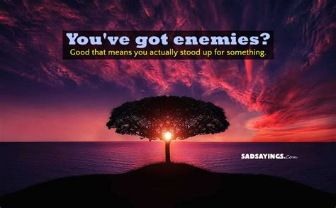 You Ve | you ve got enemies good that means you sad sayings