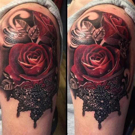 sexiest rose tattoos collection of 25 beautiful of and