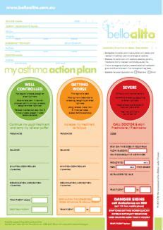 my asthma plan template 29 best images about plans on