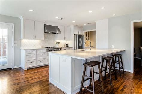 white kitchen cabinets with glass