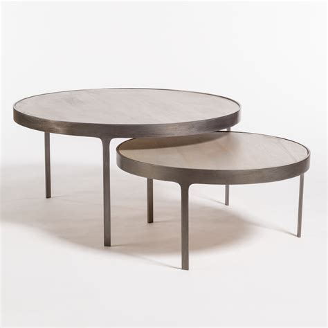 dover nesting coffee tables alder tweed furniture