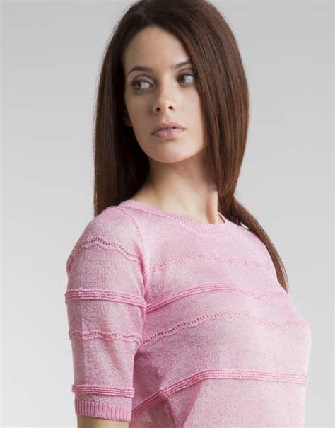 jersey cenefas jersey cenefas rosa punto mujer roberto verino