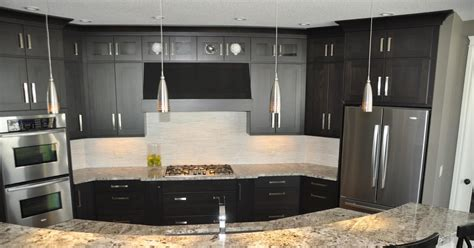 Kitchen With Black Cabinets Remodelaholic Fabulous Kitchen Design With Black Cabinets