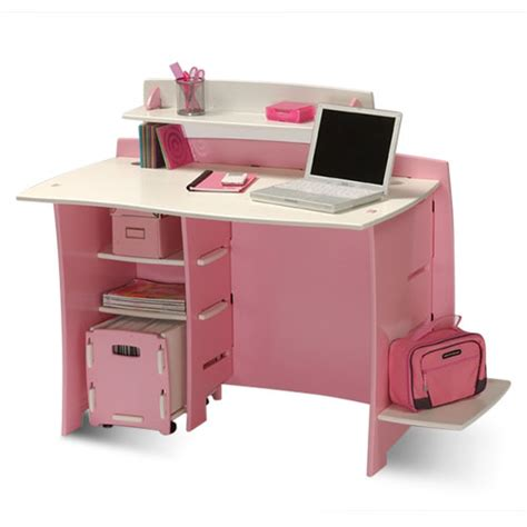 Kid Study Desk No Tools Assembly Pink White Desk Walmart