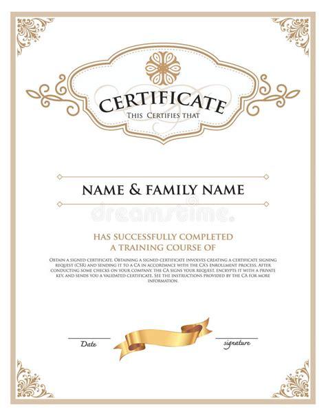 certificate template illustrator certificate design template stock vector illustration
