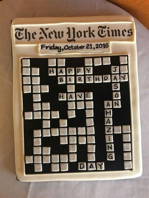new year cake crossword puzzle the 25 best crossword cake ideas on 70th