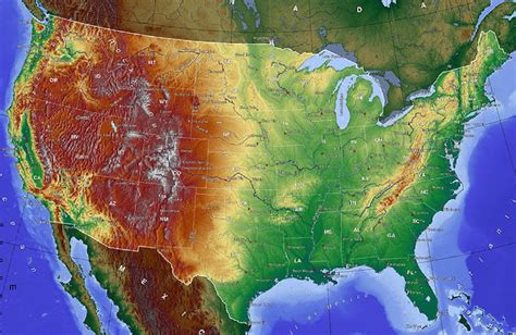 topographic maps of usa file 800x520 usa gmt map topo jpg wikimedia commons