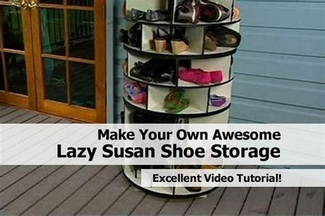 diy lazy susan shoe storage make your own awesome lazy susan shoe storage