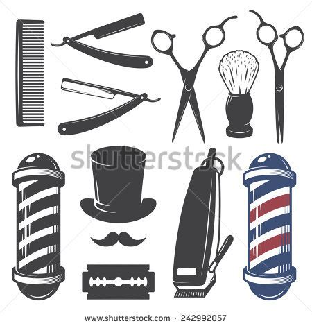 Set Of Style By Aybie Shop barber stock photos images pictures