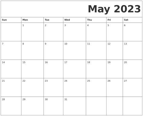 printable calendars may may 2023 free printable calendar