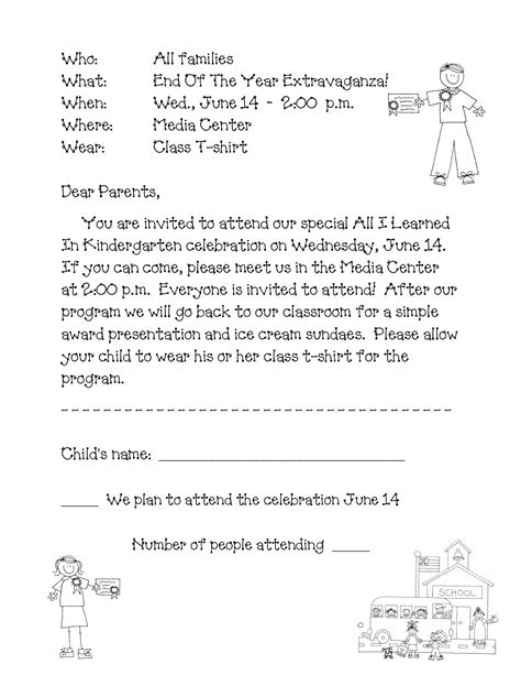 preschool letter parents teacher template