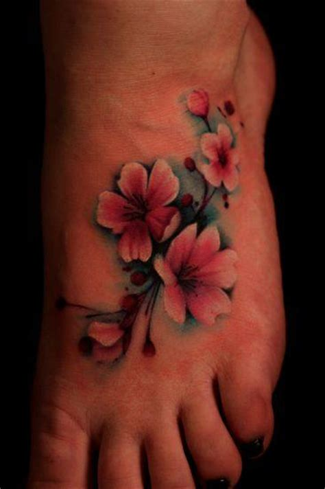 cherry blossom foot tattoo designs small cherry blossom flower on foot