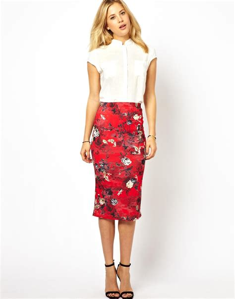 floral skirt dressed up