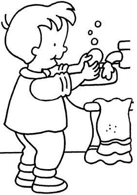 imagenes temporales tk portal escuela dibujo de ni 241 o aseandose con agua y jabon