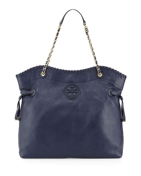 Burch Stacked Small Satchel And Marion Drawstring burch marion slouchy drawstring tote bag in blue navy lyst