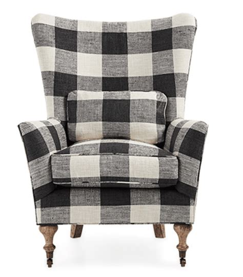 Gingham Armchair by Bookworm The Reading Nook
